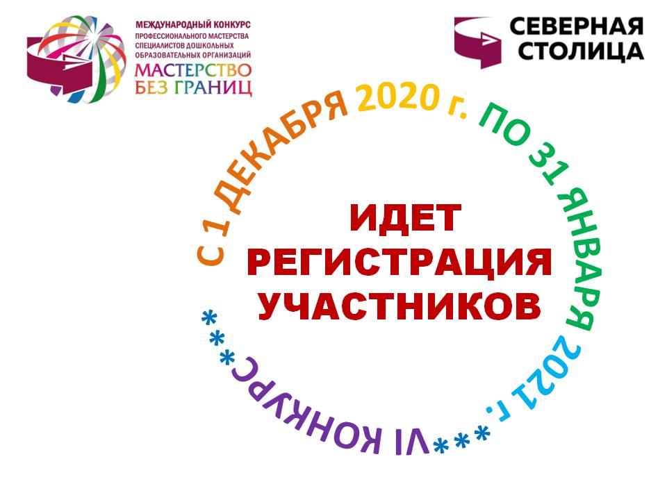 С 1 декабря 2020 года по 31 января 2021 года проходит регистрация участников